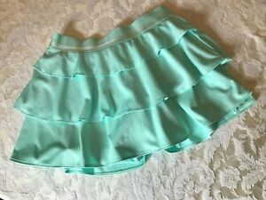 adidas Girls Tennis Frill Skirt Ruffled Aqua Size Medium (10-12)