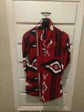 Ralph Lauren Fleece Dress Southwest Aztec Navajo Indian Blanket Print Women's L