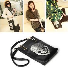 Trendy Ladies Women Skull Messenger Handbag Shoulder Bag Totes Purse Hobo Black