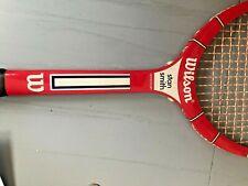 Wilson Stan Smith American Wood Tennis Racket Red &blue Wooden Racket