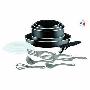 Batterie Cuisine TEFAL Set 15 Pièces Casseroles Ingénio Tous Feux Sauf Induction