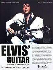 2008 Elvis & his Country Gentlemen Gretch Guitar photo Julien's Auction print ad