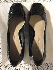 "Shoes, FRANCO SARTO, black patent, classic pump, square toe, 2 5/8"" block heel S"