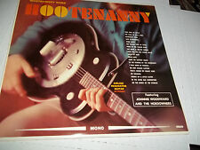 NM HOOTENANNY LP RARE RESONATOR GUITAR COVER JOHNNIE WOODWARD AND THE HOEDOWNERS