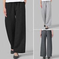 Oversize Femme Pantalon Simple Taille elastique Poches Casuel Jambes larges