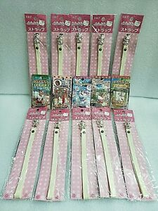 [HELLO KITTY] local version 5 pieces and phone strap 10 pieces set Netsuke Japan