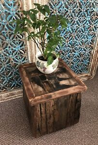 Driftwood Side Table, Rustic Coffee Table, Solid Wood Furniture, Stool