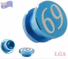 1 Stash Ear PLUG - 69 - BLUE ALUMINIUM Lightweight 10mm Tunnel Plug Saddle