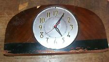 Vintage Wood Mantel Shelf Clock Movement By Sessions Made USA - FOR PARTS