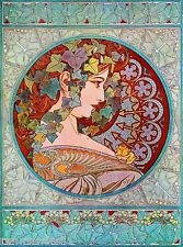 Beautiful Woman #4 Vintage French Nouveau France Poster Print Art Advertisement