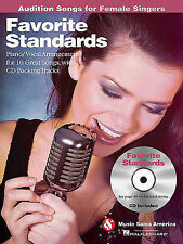 Favorite Standards - Audition Songs for Female Singers: Piano/Vocal/Guitar Arran