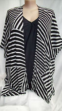 Autograph Black white cardi cardigan swimsuit cover up jacket top M - L 18 20 22