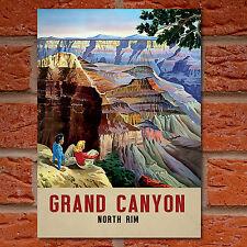 Vintage Grand Canyon, Amérique Poster de voyage-A4-Grande Qualité-NORTH RIM