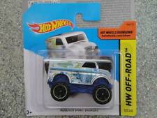Hot Wheels 2014 #122/250 MONSTER truck DAIRY DELIVERY silver HW OFF-ROAD Batch P
