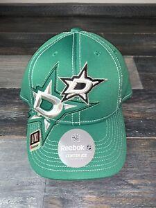 Men's Reebok Dallas Stars NHL Hockey Green Draft Cap Hat M/L NWT