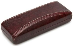 NEW Nice Clam Shell Hard Eyeglasses Glasses Case Red w/ Cleaning Cloth