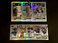 2020 Bowman Chrome Spanning The Globe / Talent Pipeline Refractors Free Combined