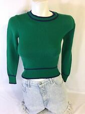 Taffy Passage Girls Blouse Long Sleeve Green 100% Acrylic Made In Korea Bin35#17