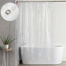 Waterproof Shower Curtain PEVA Plastic Water Splash Resistant Bath Supplies NEW