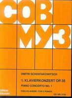 """SCHOSTAKOWITSCH ,"""" 1. Klavierkonzert Op. 35 """", für 2 Pianos"""