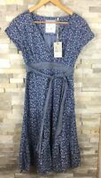 New Fat Face Ladies Size 8 Wrap Front Floral Miranda Dress Ditsy BNWT RRP £45