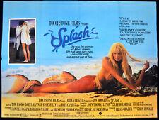 SPLASH! 1984 Tom Hanks, Daryl Hannah, John Candy UK QUAD POSTER