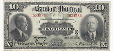1923 Bank of Montreal $10 Chartered Banknote