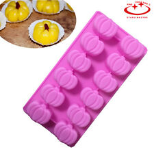 12-cavity Halloween Pumpkin Silicone Cake Soap Mold Candy Chocolate Baking Mold