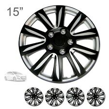 "FOR HYUNDAI NEW 15"" ABS BLACK RIM LUG STEEL WHEEL HUBCAPS COVER 546"
