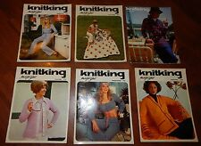 LOT OF 6 KNITKING MAGAZINES 1971 & 1972 VOL 8 NO 1 2 3 4 5 & 6 KNITTING VINTAGE