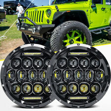 "2X 7"" INCH 260W LED Headlight Hi/Lo Beam DRL For Jeep Wrangler CJ JK LJ Rubicon"
