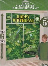 MILITARY CAMOUFLAGE WALL POSTER DECORATING KIT (5pc) ~ Birthday Party Supplies