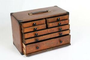 """Vintage ~ """"Moore & Wright"""" 7 Drawer Engineers Tool / Craft Cabinet / Chest #2175"""