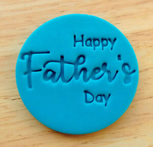 Happy Father's Day Cookie Stamp, Fondant Embosser - 3061