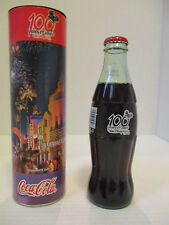 Disney 100 Years of Magic 8 oz Coca Cola Bottle in Decorated Tube 2001