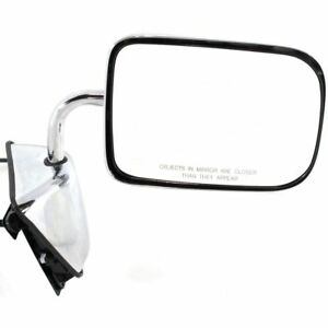 New Chromed Right Side Power Door Mirror For Dodge D150 1988-1993 CH1321273