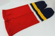 "VINTAGE FLORIDA PANTHERS TEAM COLORS KNIT NHL ICE HOCKEY SOCKS 24"" IN SENIOR"