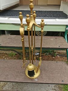 Vintage  Fireside Companion Set, Fire Tools Fireplace Cleaning Set Stove