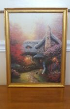Thomas Kinkade Autumn at Ashley's Cottage stretched canvas lithograph framed