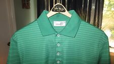 Ashworth, Short Sleeve Knit, Green with Grey Stripes (Men's M)- MINT CONDITION