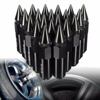 20pcs Universal Aluminum Lug Nuts Spike 60mm M12x1.5 Extended Tuner Wheel Rims