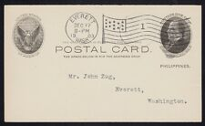 U.S. PHILIPPINES 1903. First Day Post Card  UX5, PF Cert