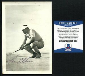 Lee Elder signed autograph auto 4x6 Photo Played in 1975 Masters BAS COA