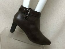RALPH LAUREN Brown Leather Side Zip Ankle Fashion Boots Booties Size 7 B