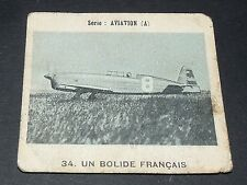 CHROMO PHOTO GLOBO 1937-1938 ALBUM AVIATION N°34 CAUDRON C.500 COUPE DEUTSCH