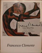 Francesco Clemente Katalog Orig. signed signiert autograph Signatur Autogramm