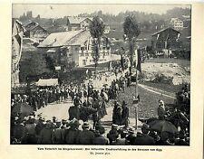 Volksfest im Bregenzerwald Der historische Trachtenfestzug Strassen von Egg 1902