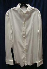 ARMANI COLLEZIONI Men Solid White L/S Button Down Shirt Size 42  16.5L NWD $245