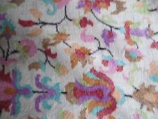 Antique/ Cream, floral shawl wrap/blanket/Shahmina/110 insx45 ins wide/Kani work