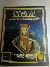 VINTAGE 1986 NCAA MENS BASKETBALL MEN'S CHAMPIONSHIP PROGRAM LOUISVILLE VS DUKE